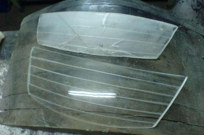 Как самому сделать стекла на фары 395